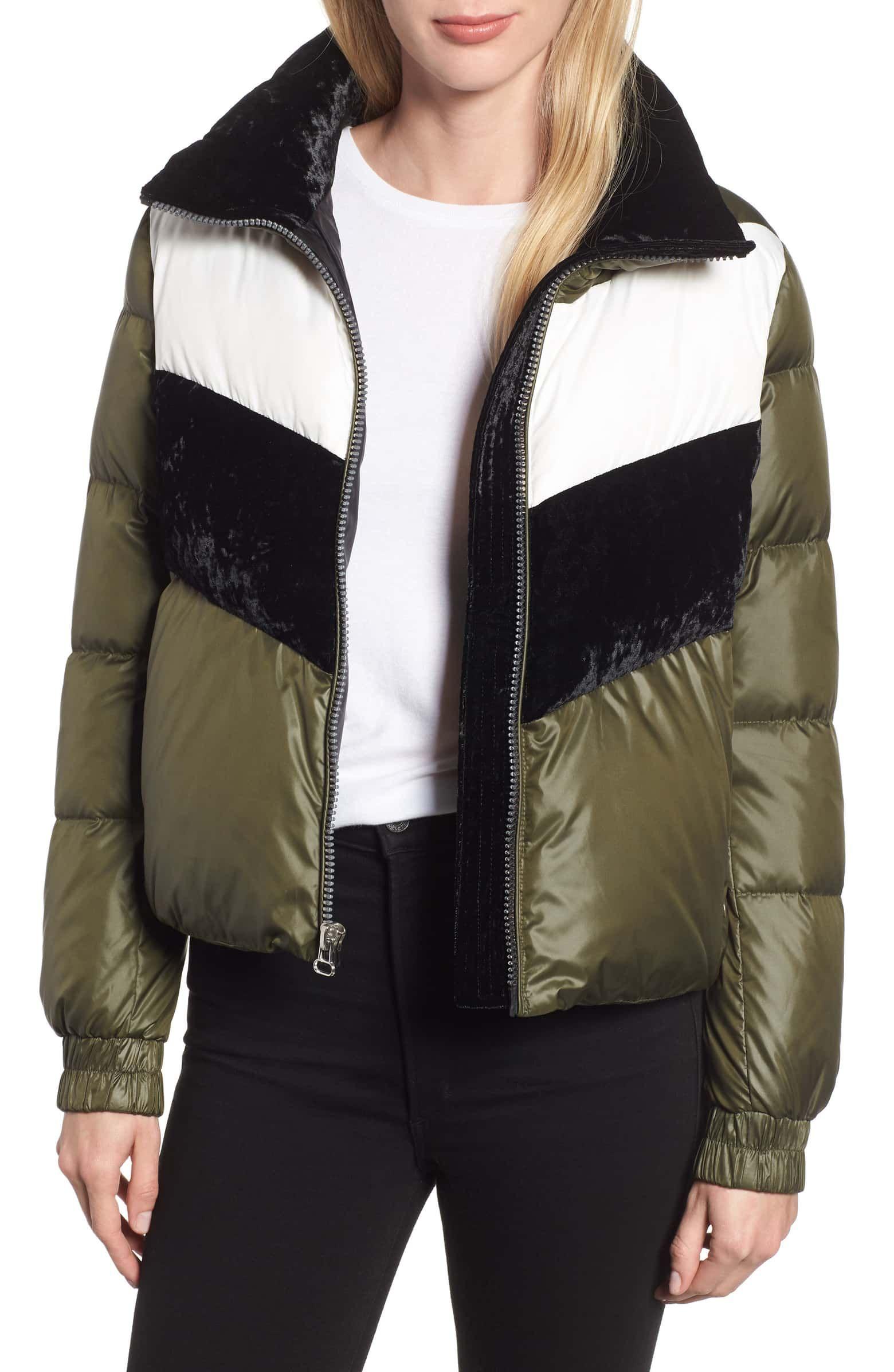Marc New York Chevron Stripe Puffer Jacket Nordstrom Jackets Outerwear Sale Puffer Jacket Women [ 2392 x 1560 Pixel ]