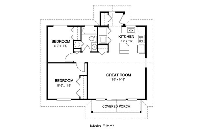 Chase Floor Plan Chase Home Kits 485 The Chase 804 Sq Ft Linwoodhomes Com House Plans Plans Chas Simple House Plans Simple Floor Plans House Floor Plans