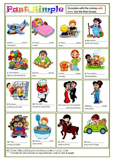 Past Simple Worksheet Good For ESL Kids Past Simple