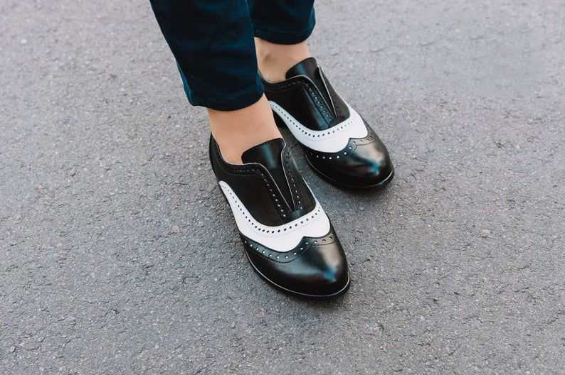 women elegant oxfords Heel oxford for women black lace up oxfords women saddle shoes chunky heel black leather derby shoe with low heel