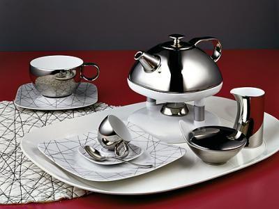Rosenthal Free Spirit Stars dinnerware combines shiny ...