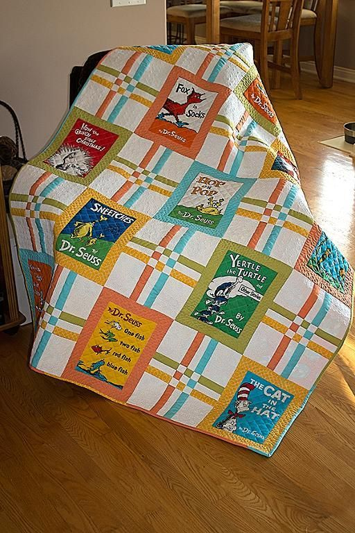 Celebrate Seuss - Crib/Toddler Baby Quilt | Crib, Panel quilts and ... : dr seuss quilt kit - Adamdwight.com