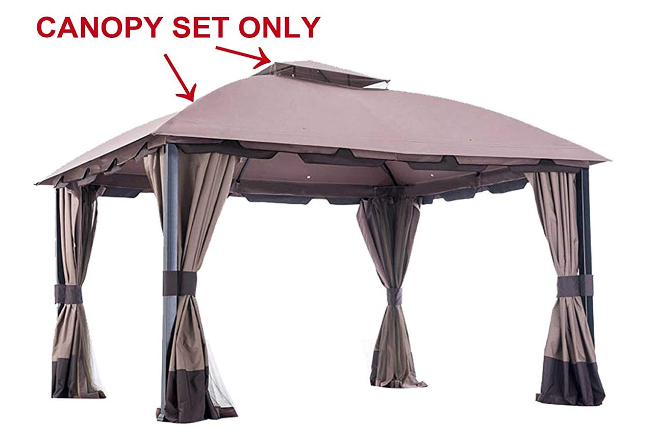 Sunjoy 110109123 Universal To L Gz659pst Wv Biglots Replacement Canopy Set Replacement Canopy Outdoor Patio Decor Outdoor Patio Set