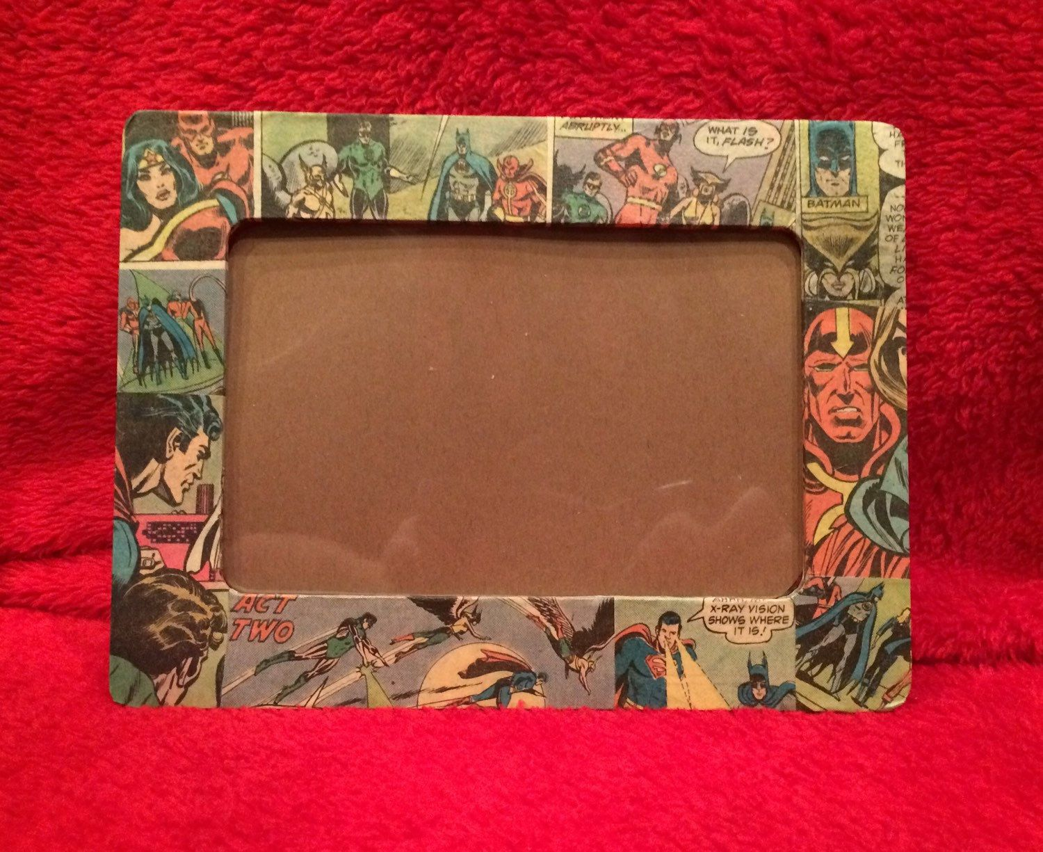 Justice League Comic Book Picture Frames by D2ComicsandMoreStore on Etsy https://www.etsy.com/listing/198960080/justice-league-comic-book-picture-frames