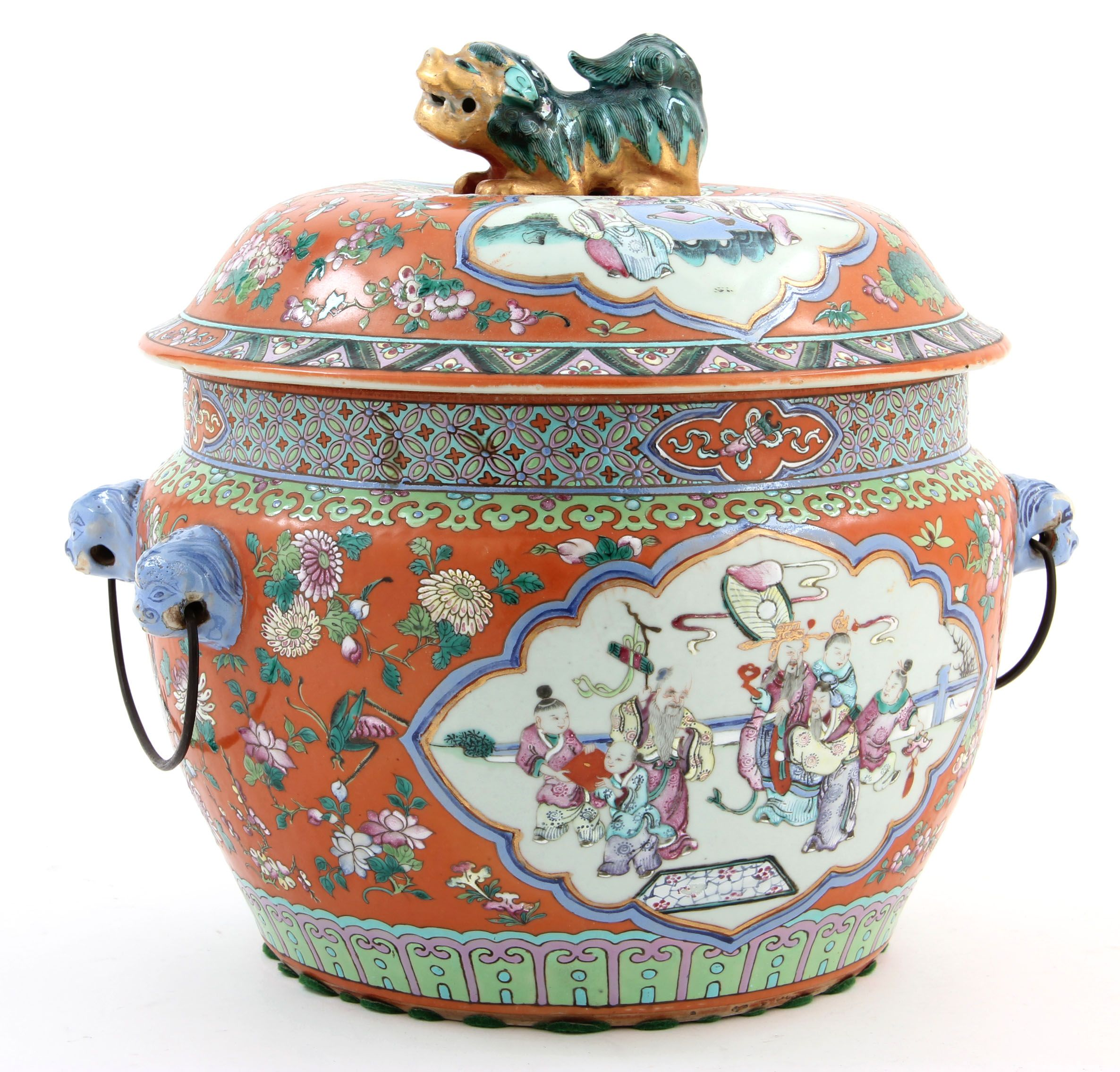 Straits Chinese Porcelain Kamcheng Cover Sold 13 000 Chinese Antiques Chinese Pottery Ancient Art