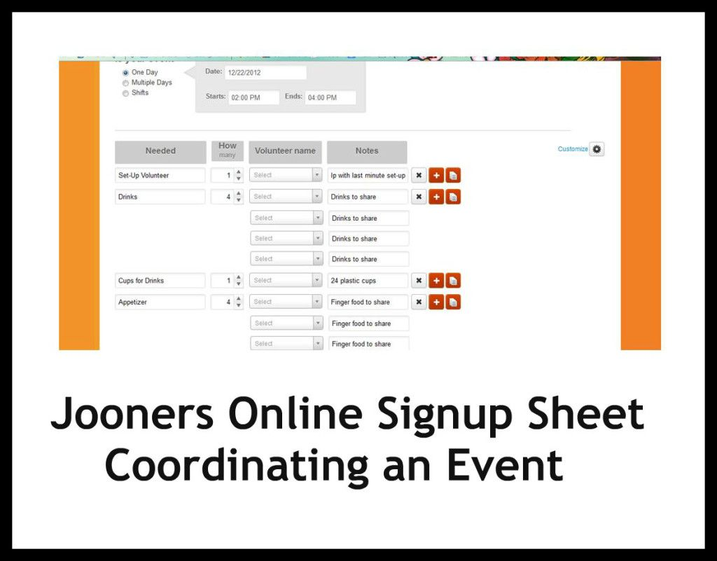 jooners online signup sheet review and giveaway pinterest