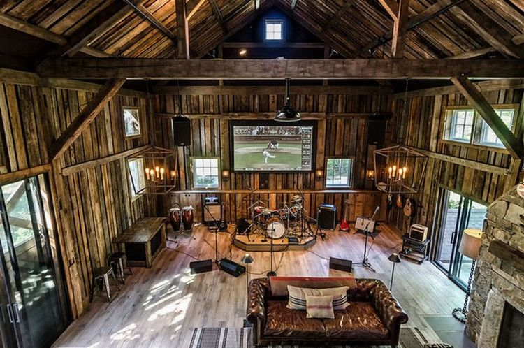 This Converted Barn Might Be The Coolest Man Cave We Have