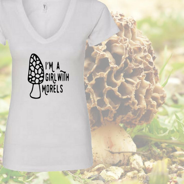 0f26f4f3d9 I'm a girl with morels ladies tee/morel shirt/moral shirt/mushroom shirt/mushroom  hunting shirt/gifts for her/mushrooms morel/morel hunting by ...