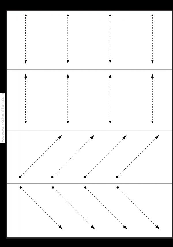 Line Tracing Vertical Horizontal And Slanted 3 Worksheets Free Printable Tracing Worksheets Preschool Tracing Worksheets Free Free Preschool Worksheets
