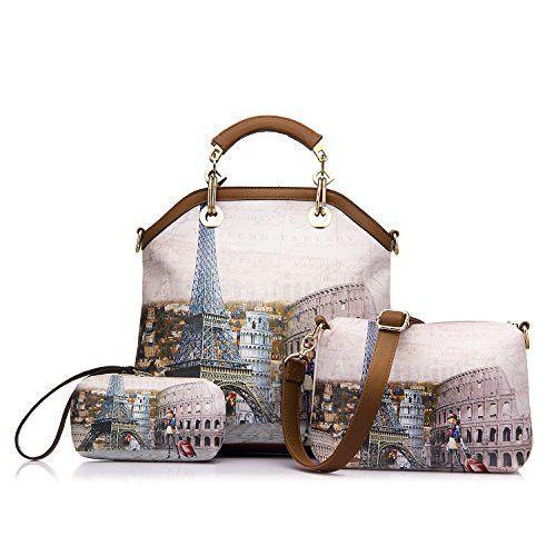Women's Handbags Purse Tote Bags Female Crossbody Bags 3 Pcs Shoulder Bags Top-Handle Handbag PU Leather Set