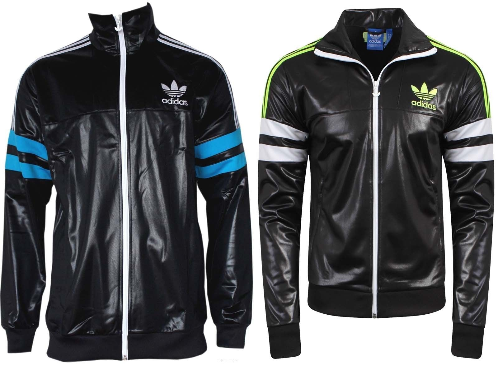 Adidas Originals Mens Classic Retro Chile 62 Tracksuit Top Jacket Black |  eBay
