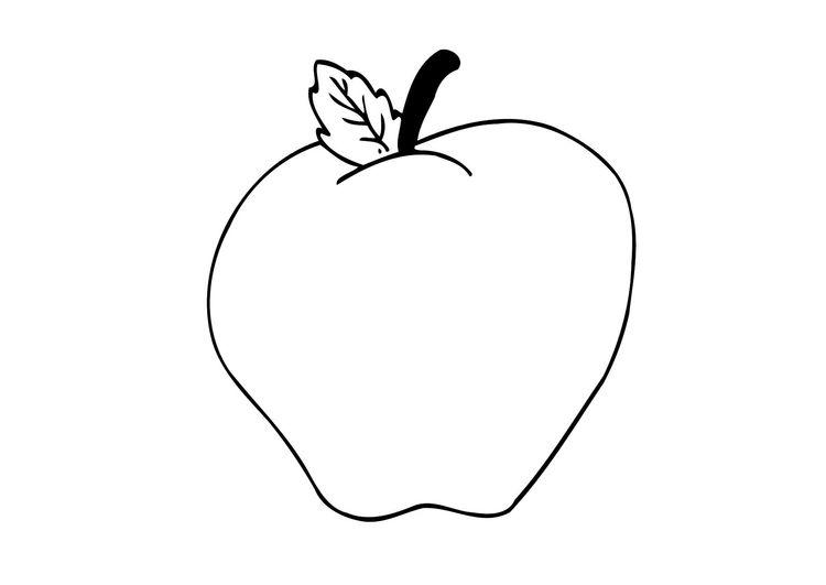 Malvorlage Apfel | Kindergeburtstag | Pinterest | Apfel