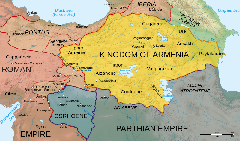 Armenian Cafe Map Of Armenia In 60 Ad And In 300 Ad Historical Maps Map Parthian Empire