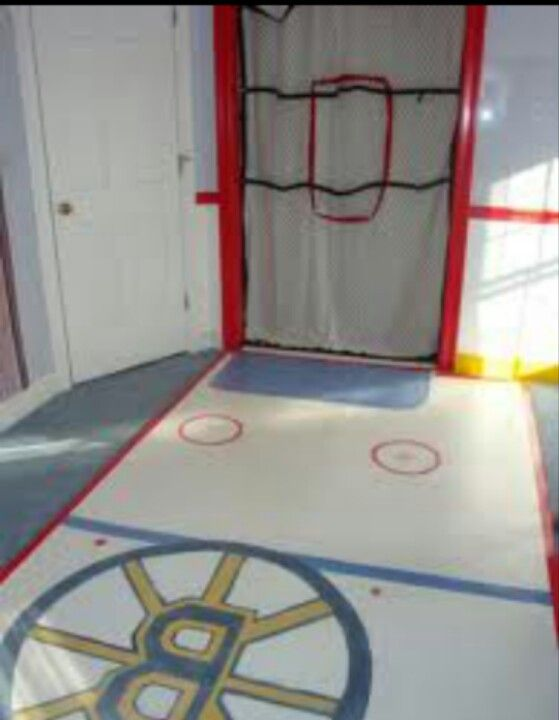 Hockey Flooring Painted On Garage Floor Hockey Bedroom Hockey Room Boys Room Design