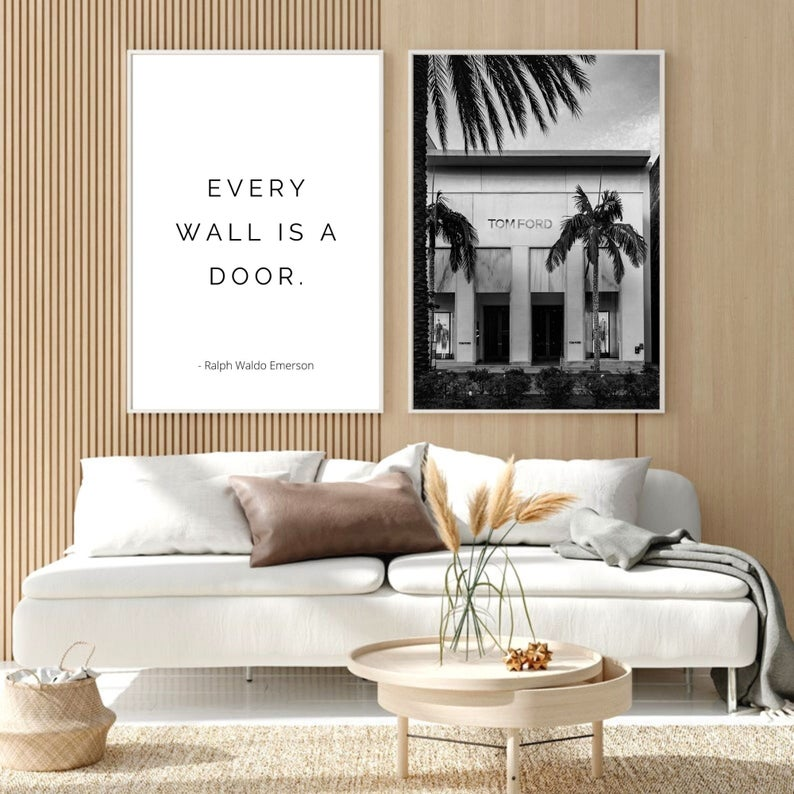 Ralph Waldo Emerson Quote Print Inspirational Motivational Etsy In 2020 Wall Art Living Room Modern Wall Art Prints Typographic Art Print #wall #art #sayings #for #living #room