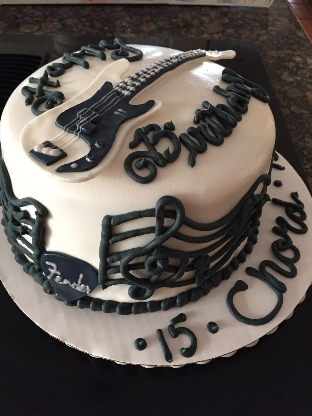 Bass Guitar Birthday Cake Melisas Baked Creations Pinterest