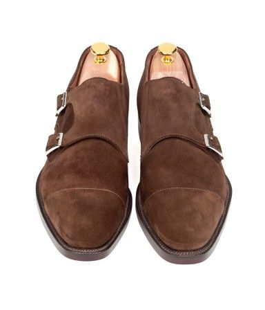 Double Monk Strap, Holburn Suede  SidMashburn.com
