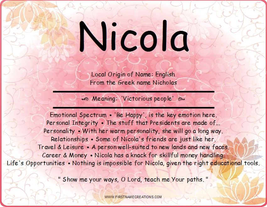 Nicola Name Meaning Names with meaning