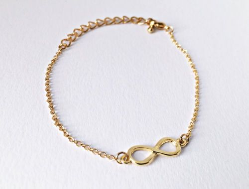 Infinity Symbol Gold Color Friendship Bracelet Gift Elegant