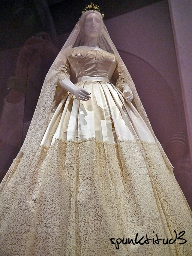 White Satin And Honiton Lace Wedding Dress Date Of Manufacture 1865