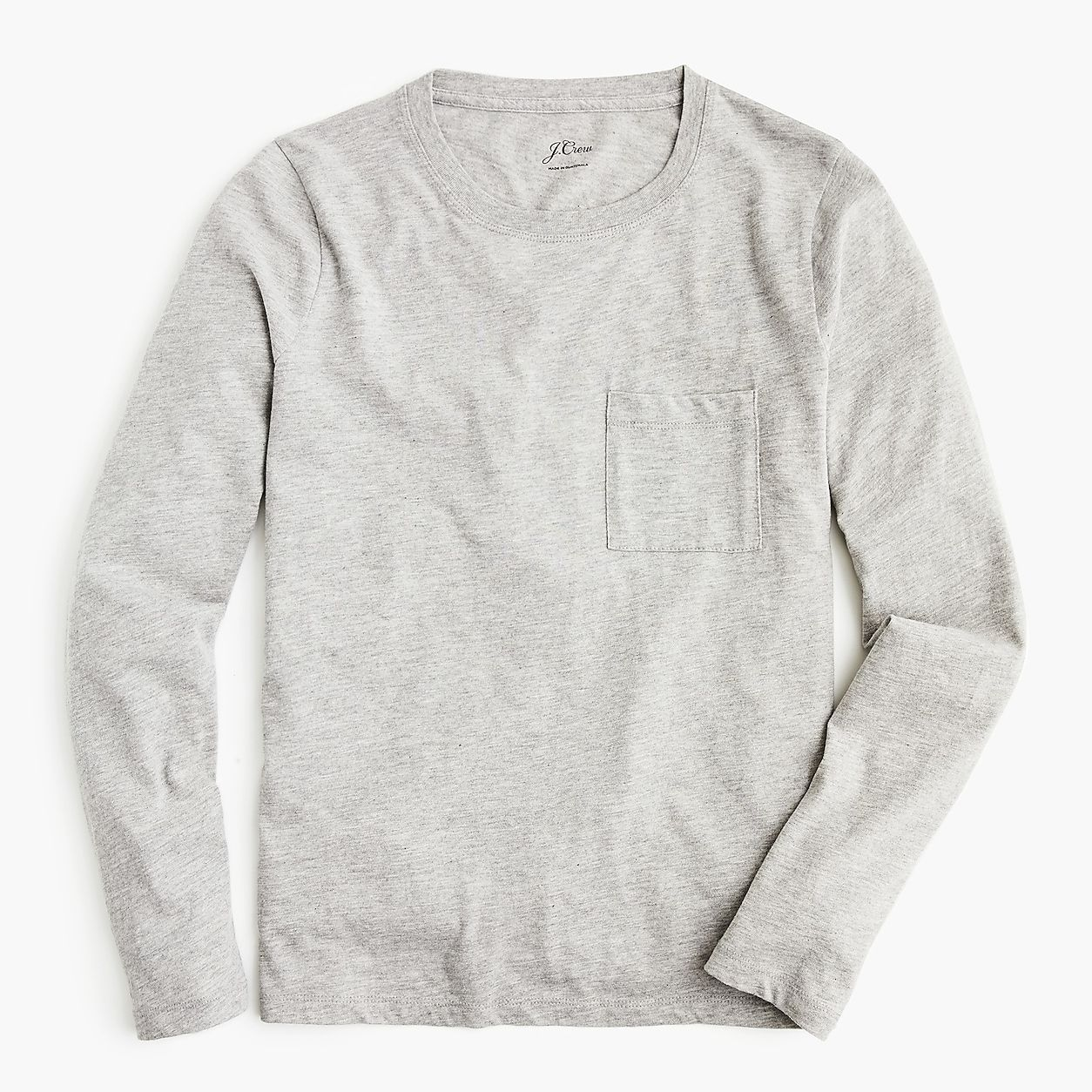 9b30a6a286 J. Crew Essential Long-Sleeve Pocket T-Shirt