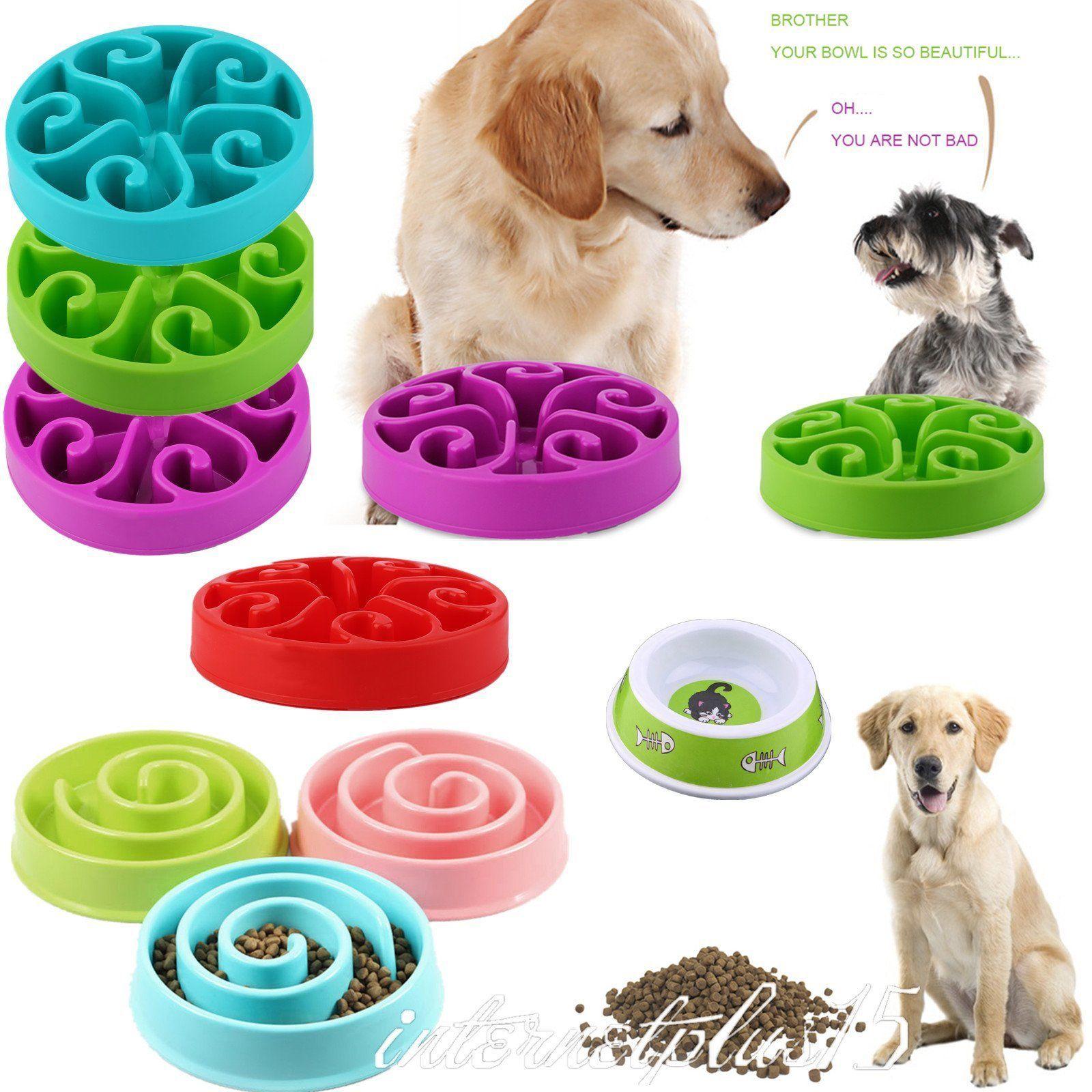 8 09 Aud Dog Food Bowl Healthy Anti Choke Bowl Feeder Pet