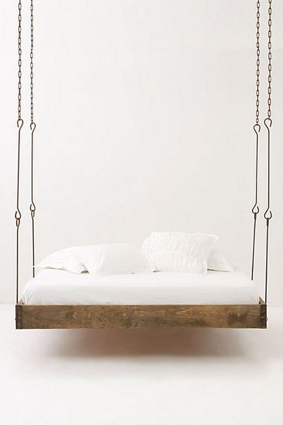 7 Amazing Swing Beds Or Bed Swings Diy Ideas Pictures Hanging Bed Bed Design Furniture