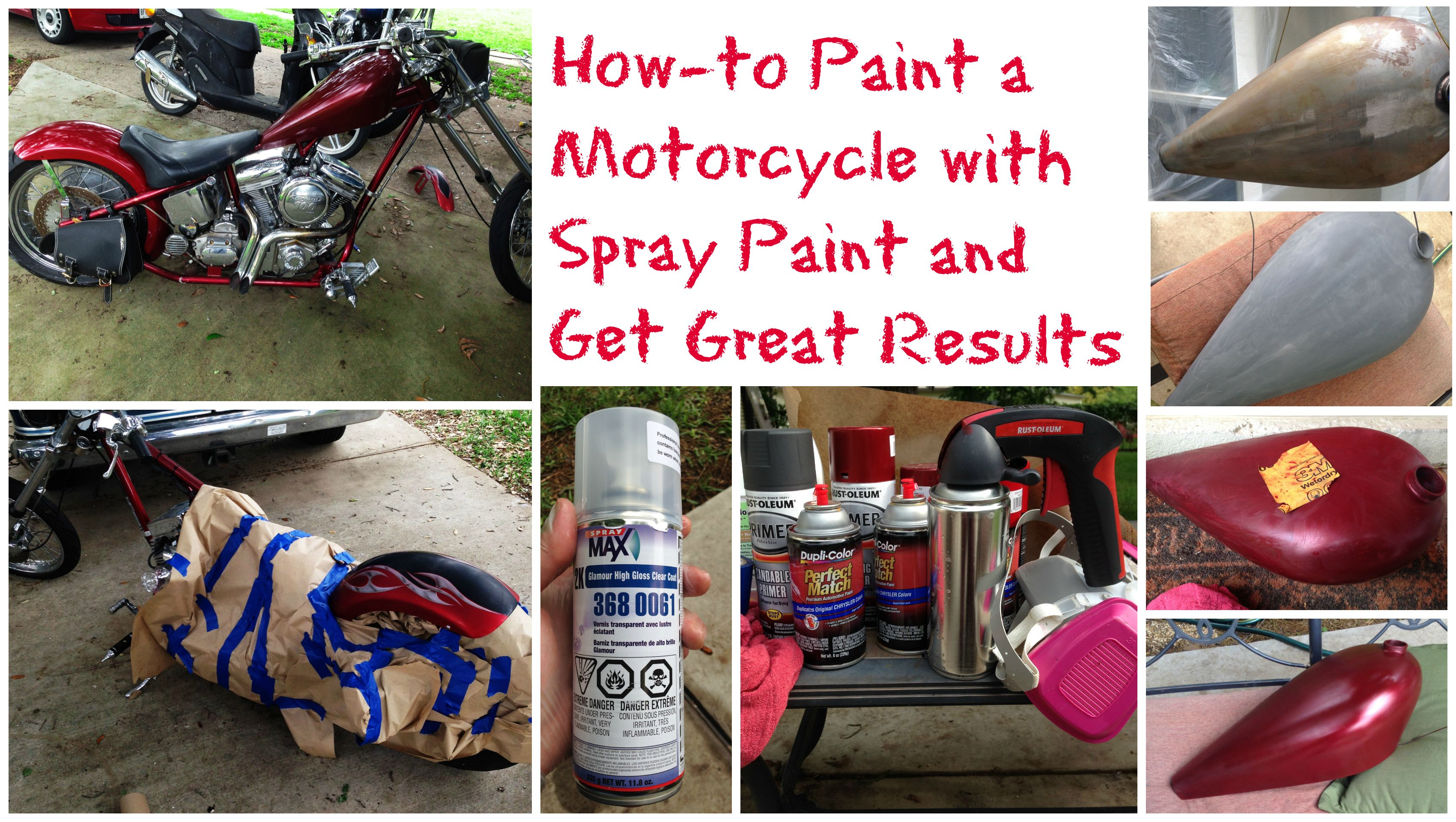 Diy howto paint a motorcycle with spray paint and get