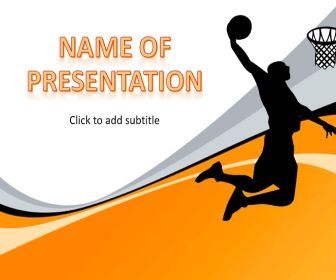 basketball free powerpoint templates powerpoint
