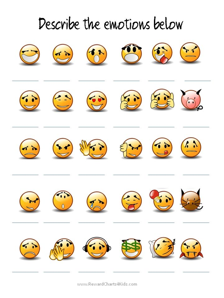 Modest image for emoji feelings printable