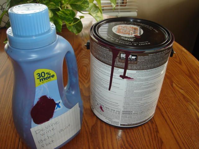 The next time you paint, pour paint from paint can into a washed out detergent or fabric softener bottle. Pouring paint into your roller pan will me much easier and a lot more cleaner! You won't have a lid to tap down when you are done either.