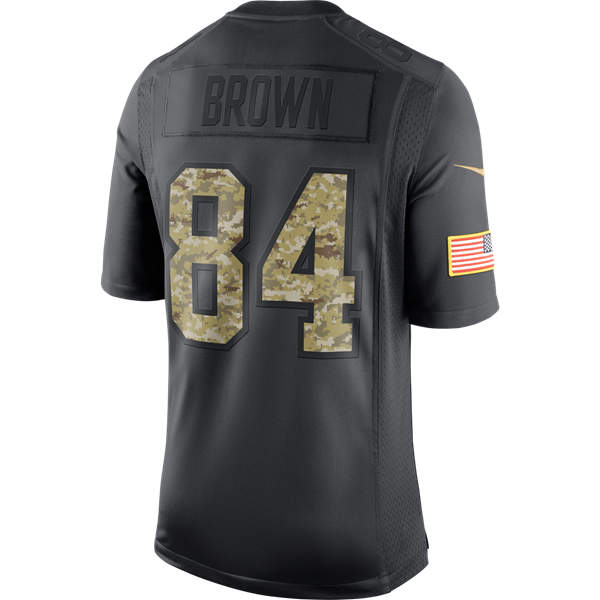 77db286d1 Picture of Pittsburgh Steelers Nike Youth  84 Antonio Brown Limited Salute  to Service (STS) Jersey