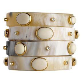 Adorned Horn Bangle Bracelet