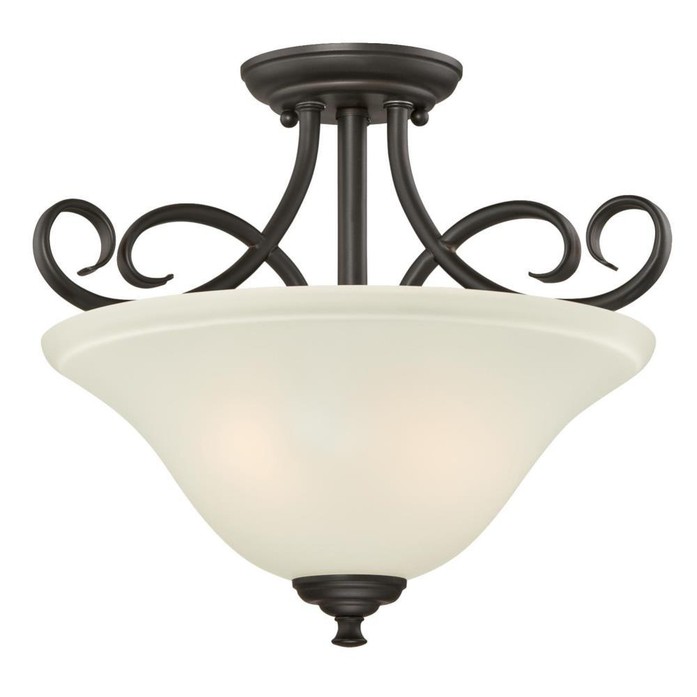 Westinghouse Dunmore 2 Light Oil Rubbed Bronze Semi Flush Mount 6306500 The Home Depot In 2021 Ceiling Fan With Light Semi Flush Ceiling Lights Flush Ceiling Lights Oil rubbed bronze ceiling light fixtures