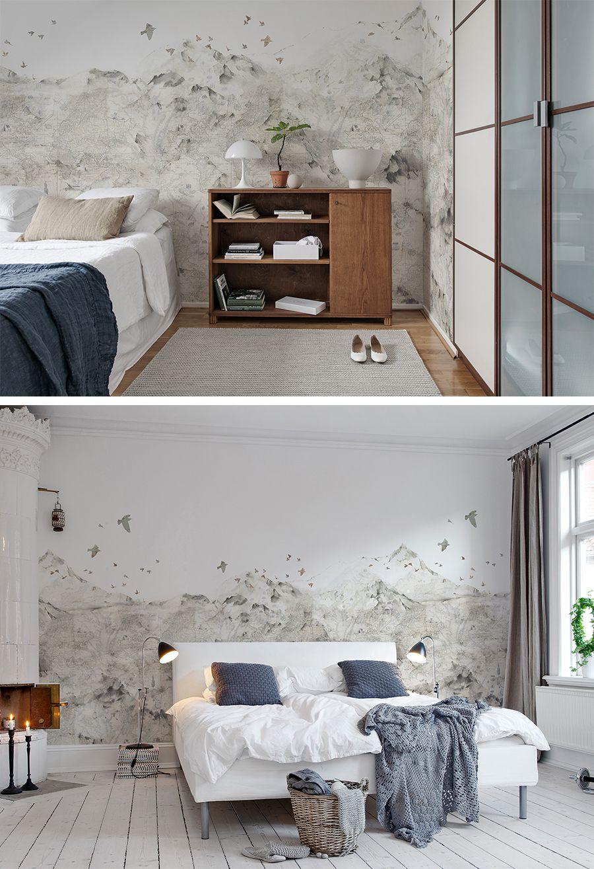 Paper Mountains Zimmergestaltung Schlafzimmer Tapete Moderne