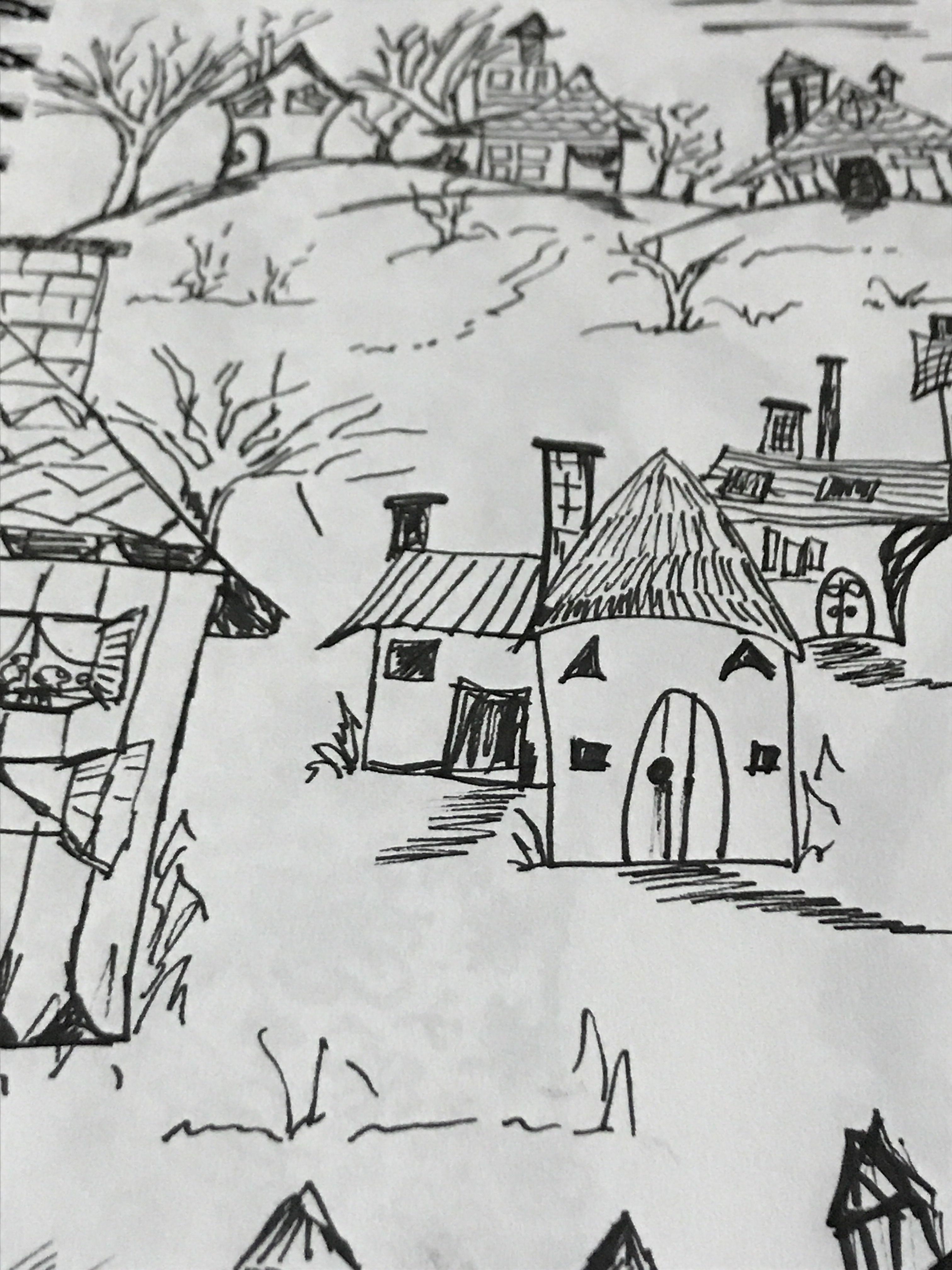 رسم بيوت