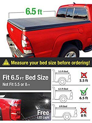 Tri Fold Truck Bed Tonneau Cover   Ford F  Excl Raptor Series Styleside   Bed For Models Without Utility Track System Automotive