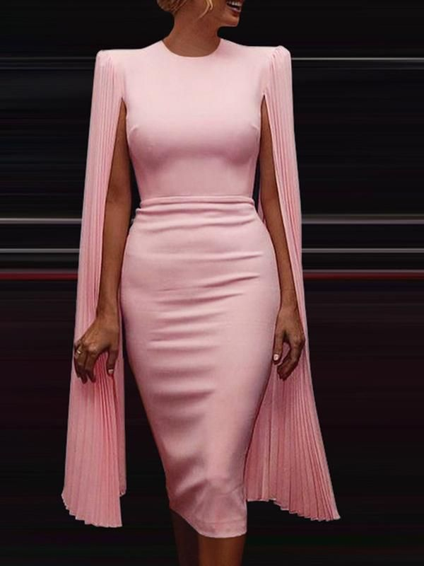 Photo of Long Sleeve Slit Elegant Bodycon Dresses
