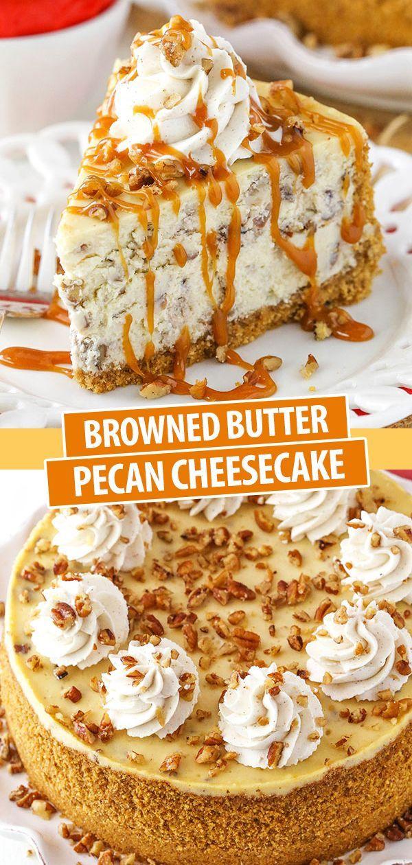 Browned Butter Pecan Cheesecake Recipe | Easy Fall Dessert Recipe