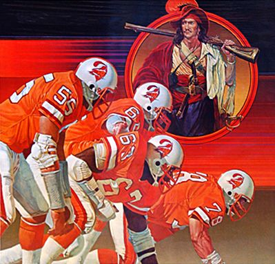 Vintage Tampa Bay Buccaneers Damac Poster Artwork Nfl Football Art Buccaneers Football Football Artwork