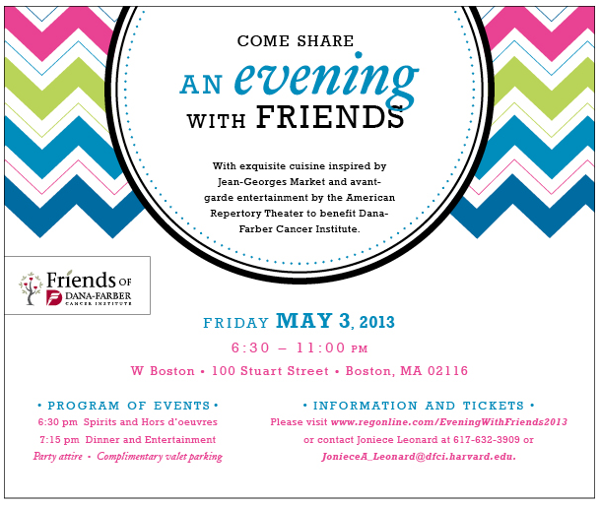 Evening With Friends Fundraiser Invitation By Jessica Walker Via