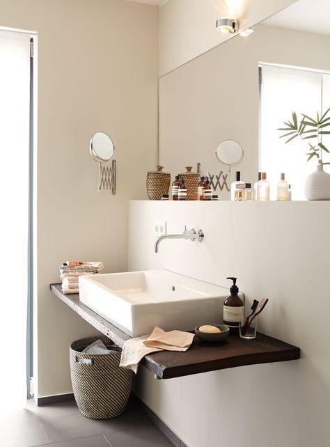 Alpina Feine Farben Farbfamilie Braun bathroom  laundry reno