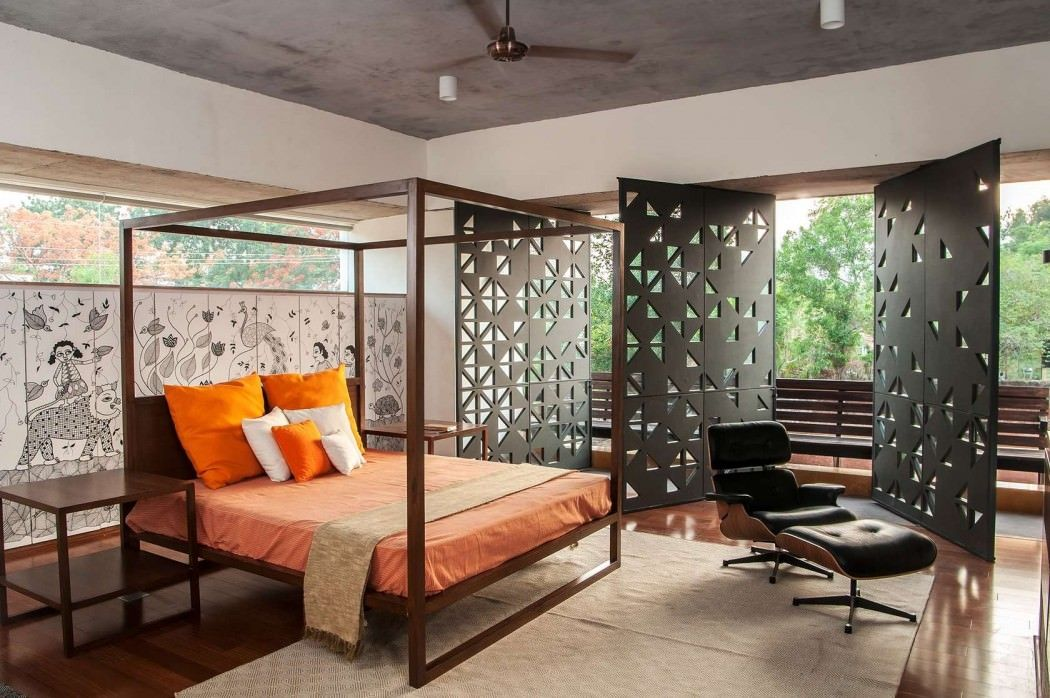 India based architecture studio krishnan parvez architects designed mehr house a contemporary weekend retreat located in raigad india and completed in