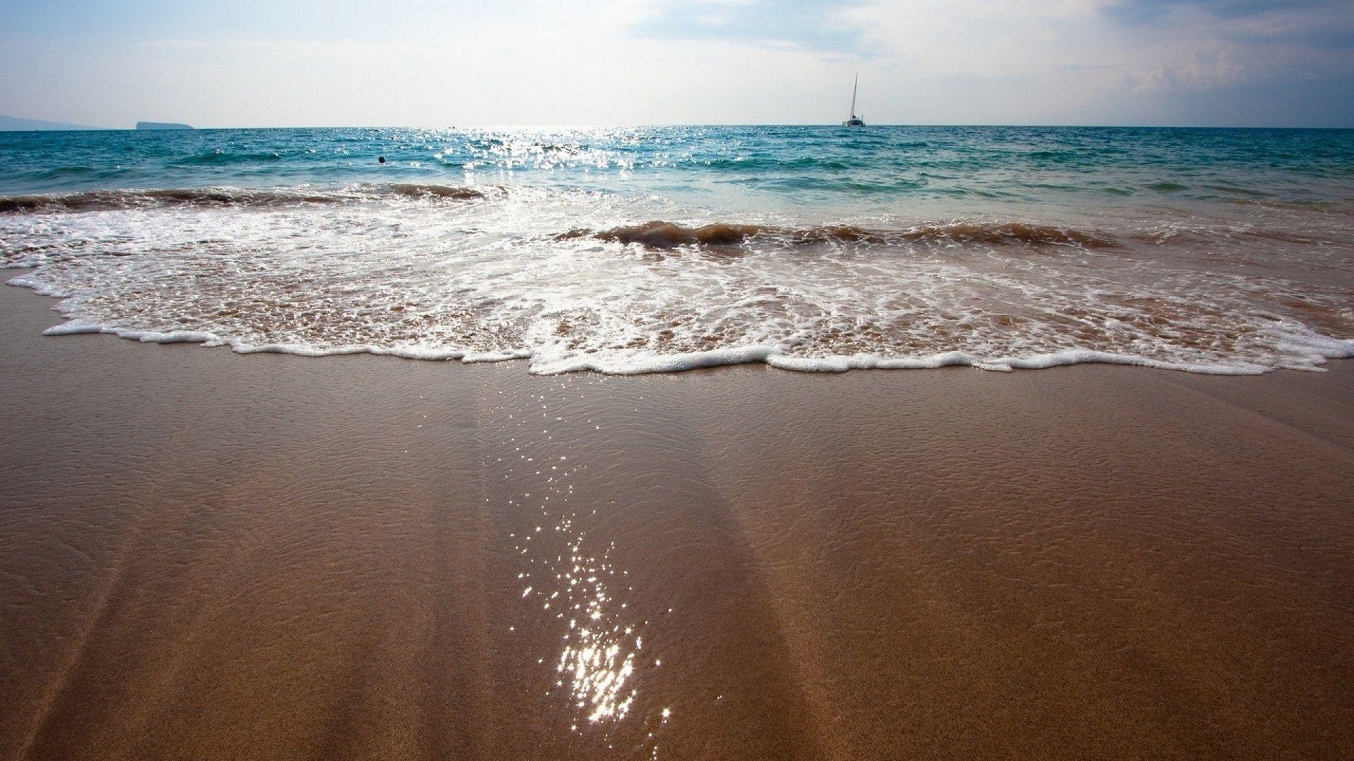 1920x1080 Brown Sand Beach Wallpaper Beach Wallpaper Beach Sand Beach Photos