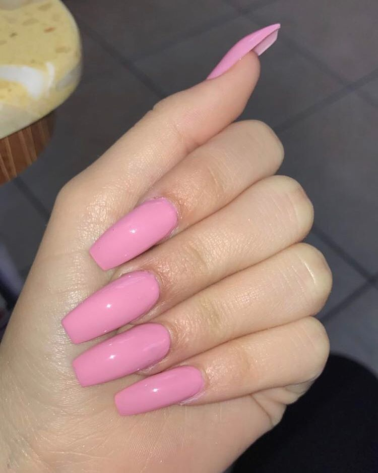 Pintyeryeѕt Nikeplvg Light Pink Acrylic Nails Pink Acrylic Nails Long Square Nails