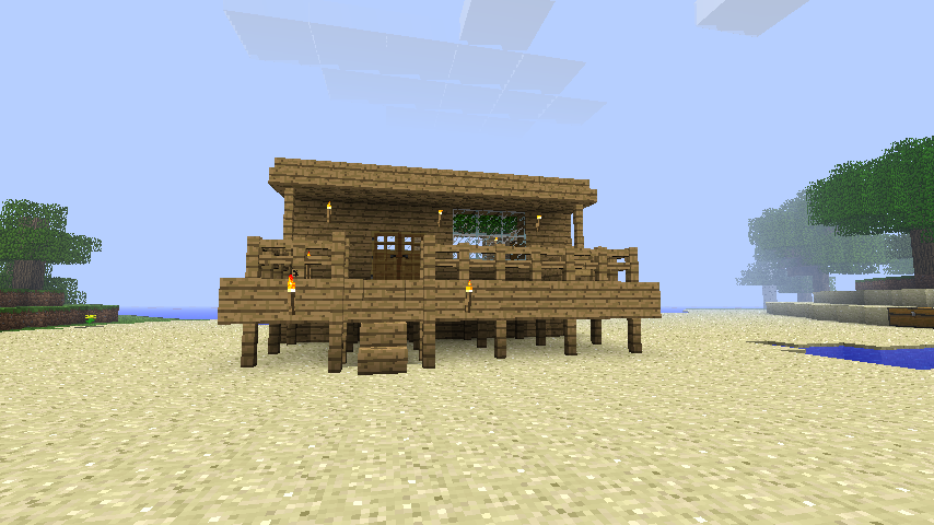 Beach house minecraft minecraft pinterest beach for How to build a beach house