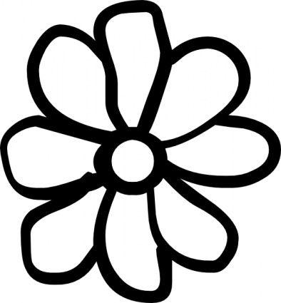 clip art flower outline clipart best clipart best patterns for rh pinterest com flower petal outline clipart black outline flower clipart