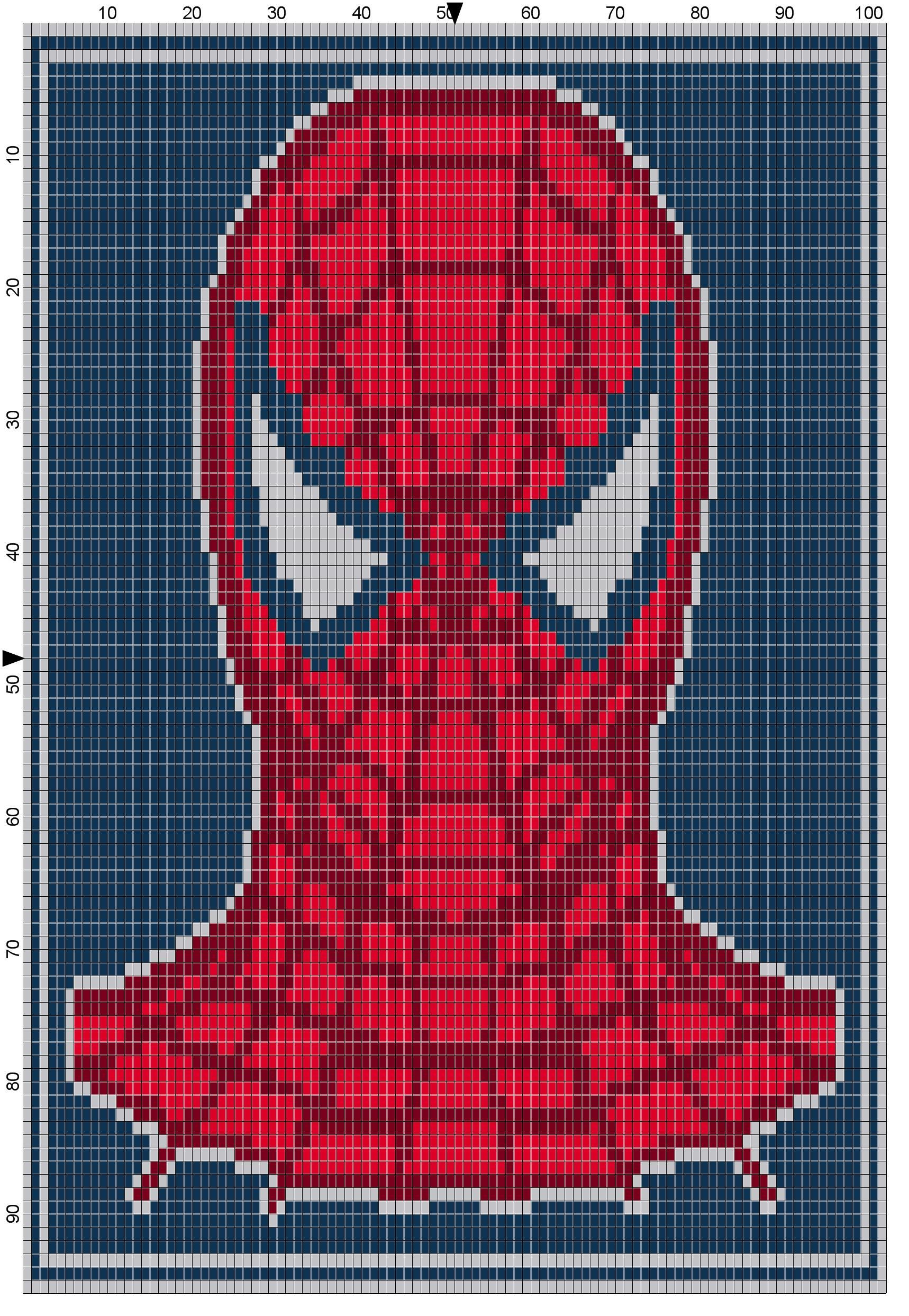 Spiderman Headshot Comics Crochet Square Blanket