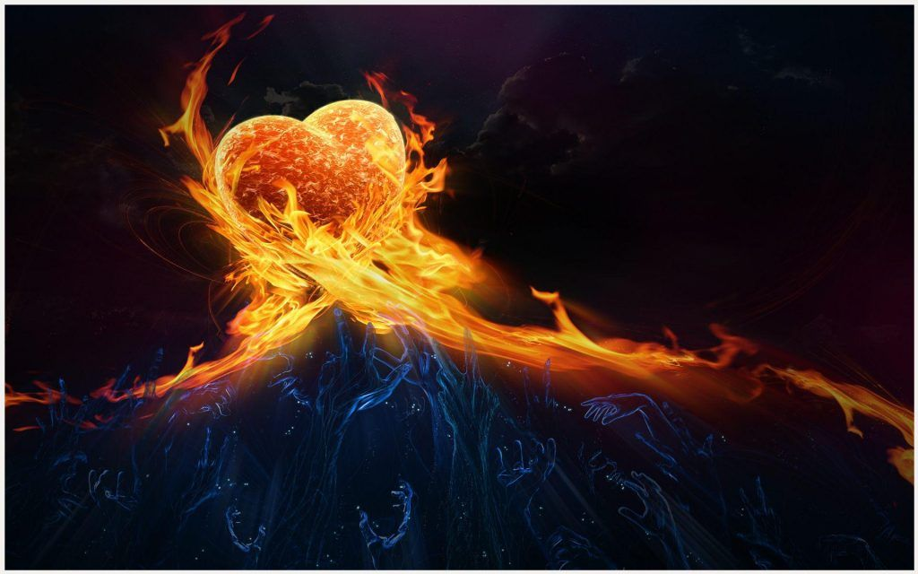 Explore Ice Heart Hand And More Fire Love Wallpaper