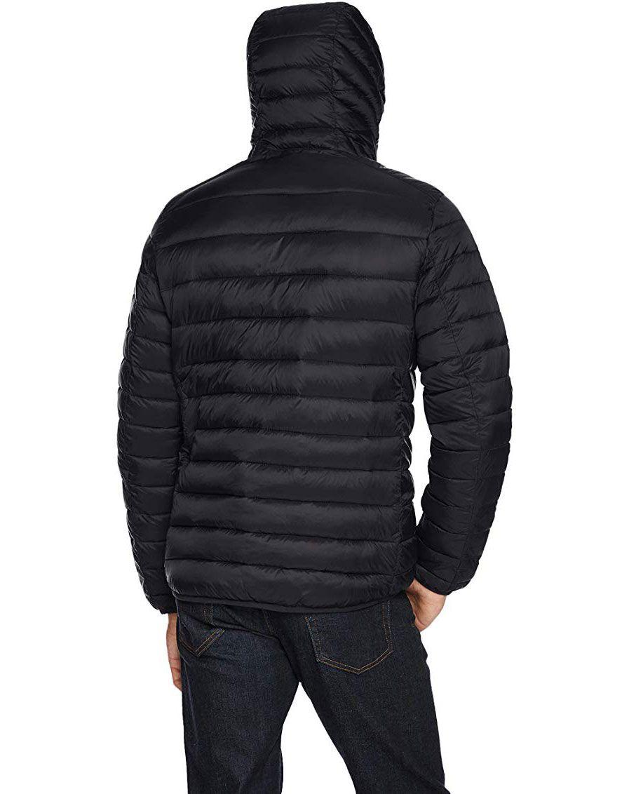 Lesmart Men S Hooded Puffer Down Coat Mens Golf Outfit Mens Down Jacket Mens Hooded